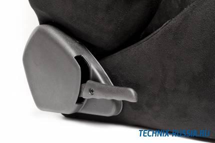 Спортивное сиденье полуковш TA-TECHNIX 117S2S-A-R алькантара черный