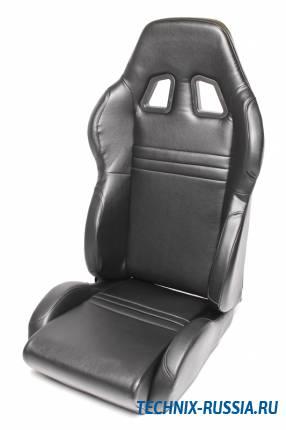 Спортивное сиденье полуковш TA-TECHNIX 117S2S-KL-R искусственная кожа черный