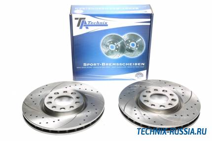 Тормозные диски 305,5mm с перфорацией и насечками Alfa Romeo 159 TA-TECHNIX EVOBS20366P