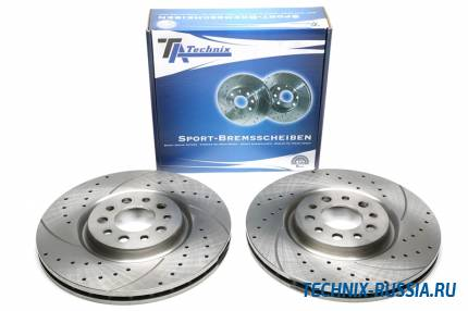Тормозные диски 330mm с перфорацией и насечками Alfa Romeo 159 TA-TECHNIX EVOBS20367P