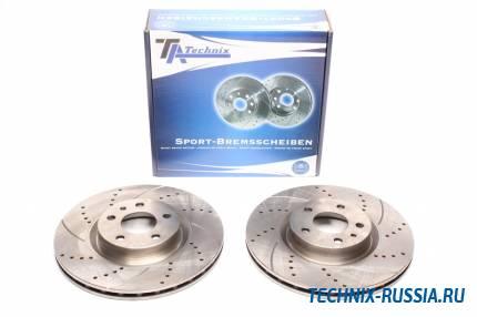 Тормозные диски 284mm с перфорацией и насечками Alfa Romeo 164 TA-TECHNIX EVOBS2937P